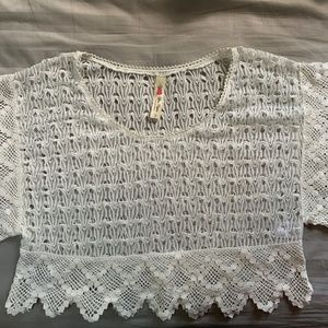 Cropped Crochet Style Top